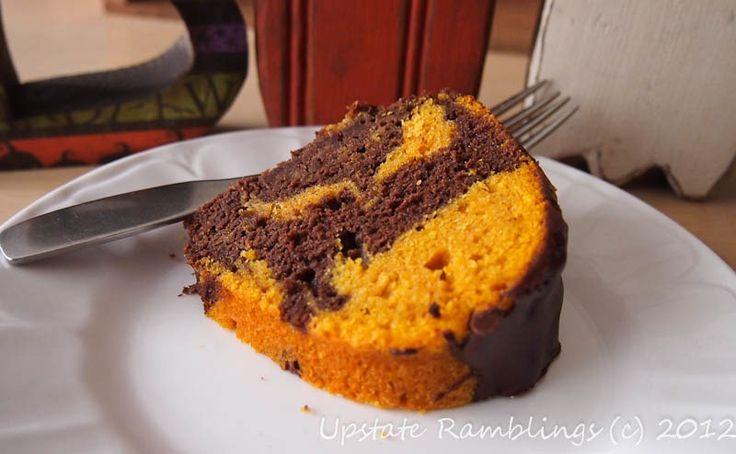 Chocolate Pumpkin Bundt Cake - perfect for Halloween!