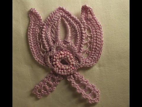 Цветок крючком - ирландское кружево - бутон часть 2 - мотивы - flower crochet motif Irish lace - YouTube
