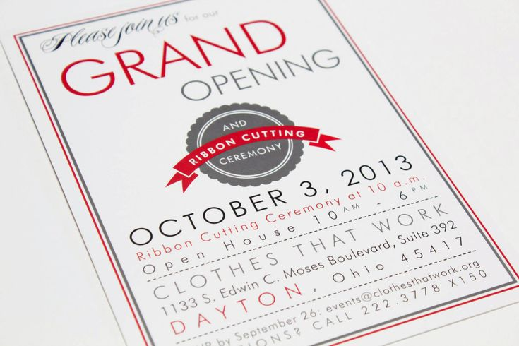 Clothes That Work Boutique Grand Opening Invitation Grand Opening Invitations Invitation Card Design Invitation Template