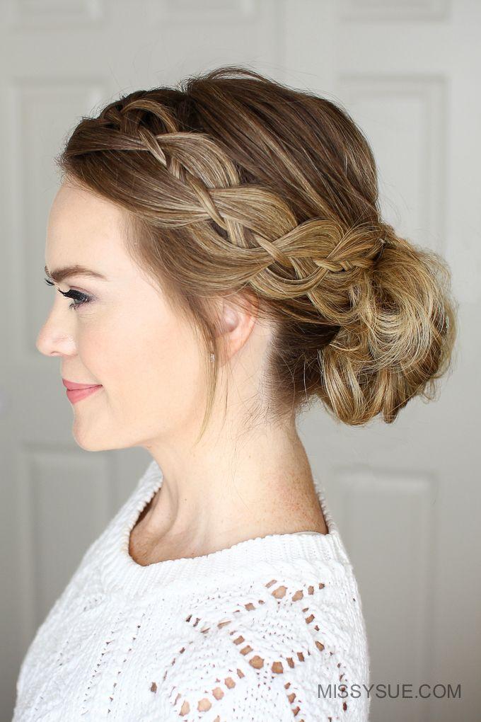 Best Low Bun Braid Ideas On Pinterest Easy Low Bun Diy - Bun hairstyle definition
