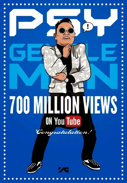 Psy's 'Gentleman' MV exceeds 700 million views on Youtube.  #psy #gentleman #700m #gentleman #kpopalbum #hangover #youtube #psyhangover