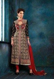 Eye Catcher Black Color Amazing Wedding Salwar Suit