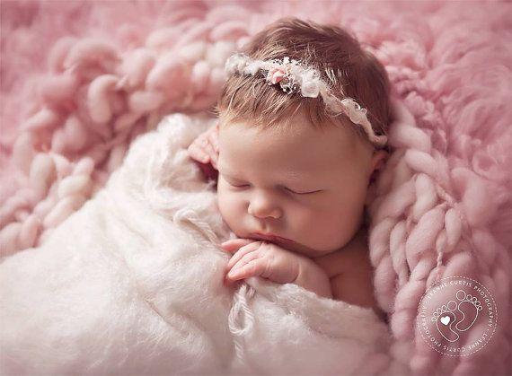 Newborn headband tieback ready to ship baby tieback silk and mohair baby silk
