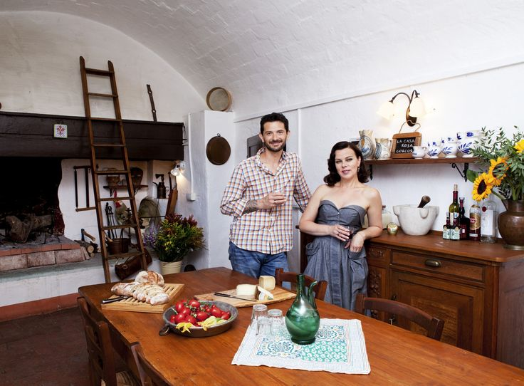 14th-Century Farmhouse : Actress Debi Mazar and her husband, Gabriele Corcos, who co-host Cooking Channel's Extra Virgin, spend most of the year in Brooklyn with their daughters, Evelina and Giulia. But for a few weeks every summer, the family escapes to Gabriele's great-grandfather's 14th-century farmhouse in Fiesole, Italy.  via Food Network