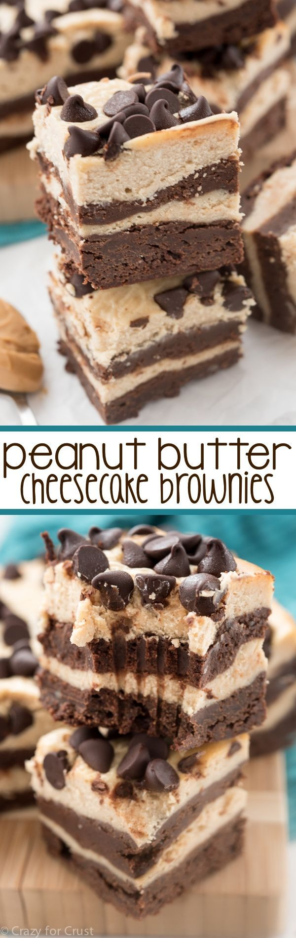 4 Layer Peanut Butter Cheesecake Brownies