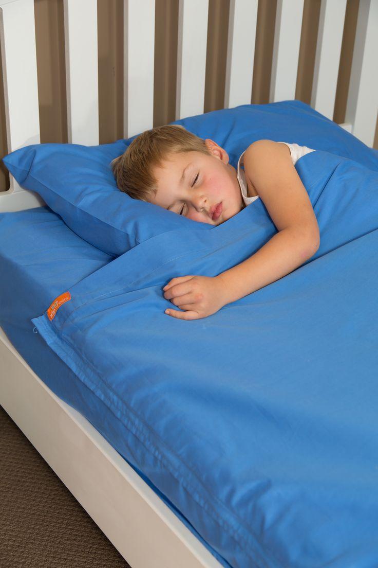 Kids Zip Sheets 92*201*35 standard bed Blue sheets set.