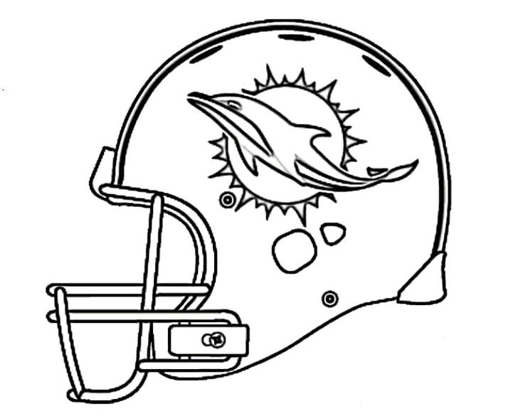 nfl dolphins helmet coloring pages - photo#2