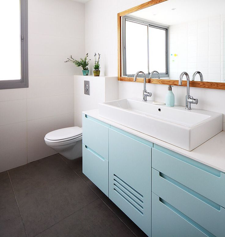 blue bathroom cabinet by studio dulu israel bathroom