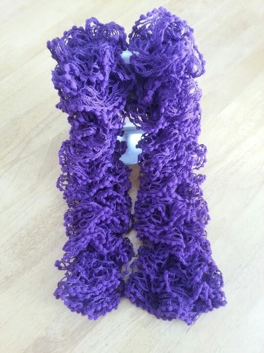 Purple Loopy Pom Pom