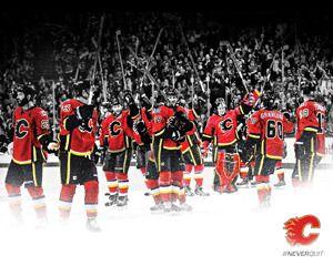 Calgary Flames #NeverQuit Wallpaper