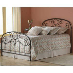 $139.99 Grafton Bed - The Grafton Bed features prominent scrollwork and decorative banding on its classic headboard and footboard. Heavy iron tubing with softly rounded corners...