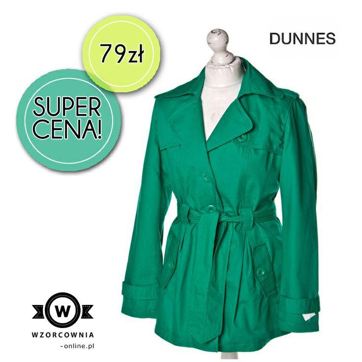 CENA DNIA: Zielony płaszcz z paskiem Dunnes Stores  KUPISZ TUTAJ --> http://bit.ly/1fWbMQ9