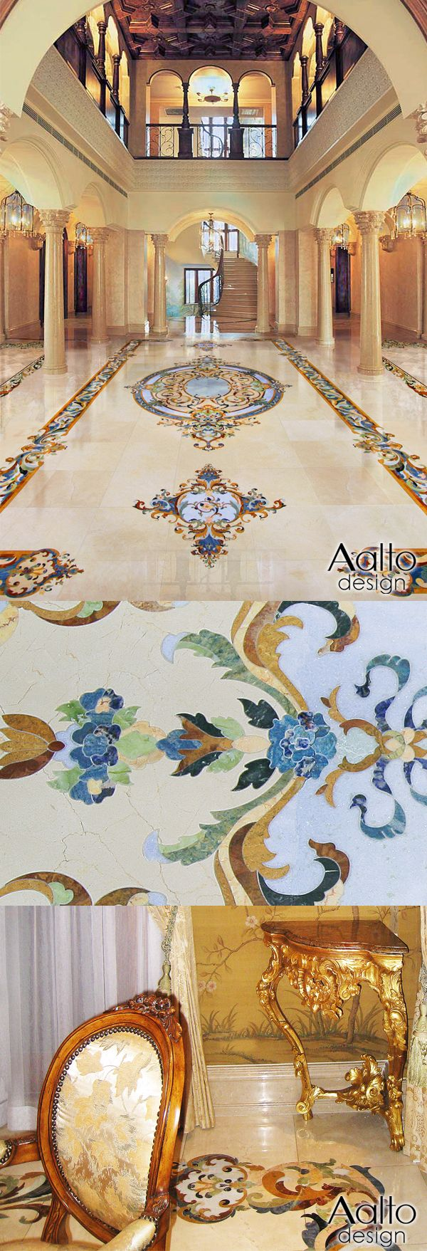 346 best water jet marble images on pinterest floor design floor luxury handcrafted marble floor and wall designs for residential and hospitality including marble medallions inlay marble foyers marble master baths dailygadgetfo Gallery