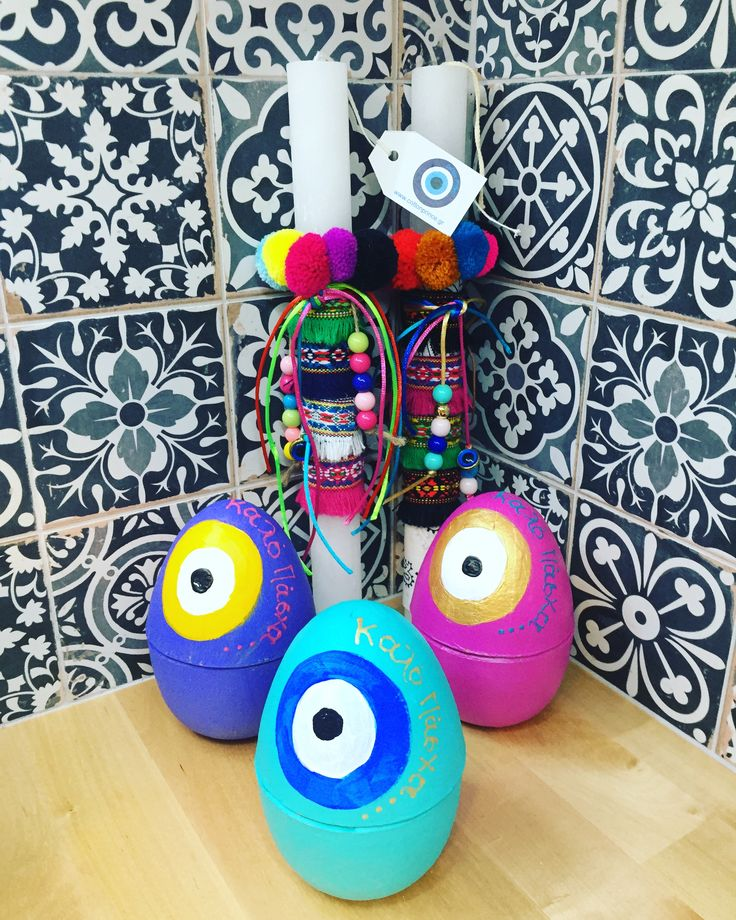boho waster candles and eggs by cotton prince