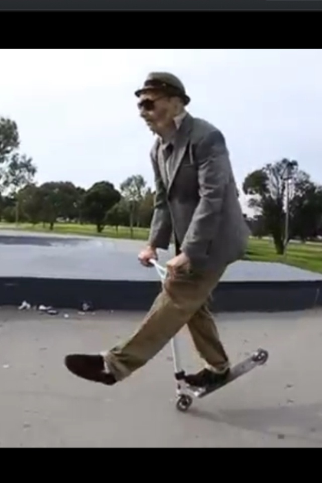 Ryan Williams from team MGP dressing like an old guy and showing up everybody at the skateparks. This is totally on my bucket list! Check out the video! http://m.youtube.com/watch?v=yqEegwUID1Y