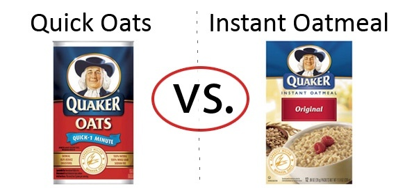 Nutrition Faceoff: Quaker Quick Oats vs. Instant Oatmeal