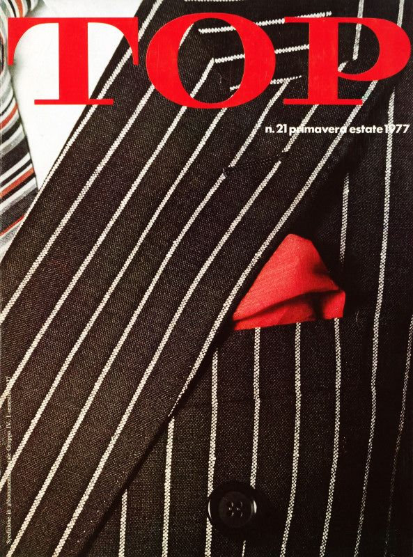 """""""TOP"""" 1977's edition: the bi-annual magazine founded in 1967 and published by the Ermenegildo Zegna Wool Mill with editorials on style and #lifestyle.  #style #magazine #heritage"""