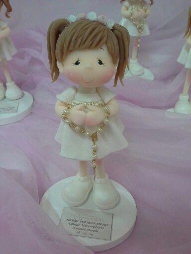 Doll cake topper