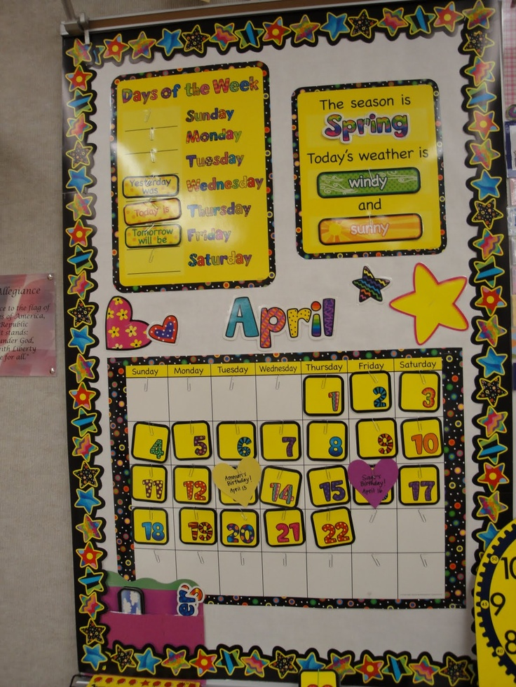 Calendar Math Bulletin Board. They used CTP's Poppin' Patterns Calendar Set and Stars Border. Great bulletin board idea!