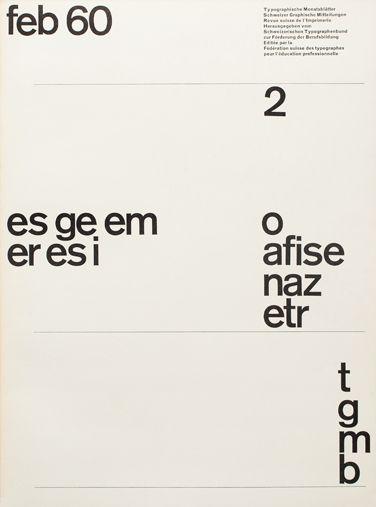 Yves Zimmermann – Typographische Monatsblätter (1960) issue 2