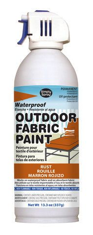 Rust Outdoor Fabric Paint- 13.3 oz cans More. Would this work on my awning I wonder?