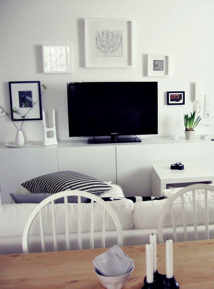 besta wei holztisch essplatz wohnecke wei schwarz my home pinterest holztisch. Black Bedroom Furniture Sets. Home Design Ideas