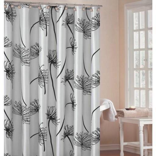 "Soleil Luxury Light Silver Shower Curtain 70x72"" $29.99  #home #furnishings #homefurnishings #homedecor #furniture #decor"