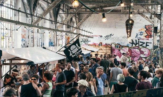 Neue Heimat, Berlin.  Top 10 Food Markets in Europe from The Guardian.