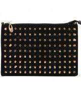 ILWF Black Studded Clutch Bag £22.00