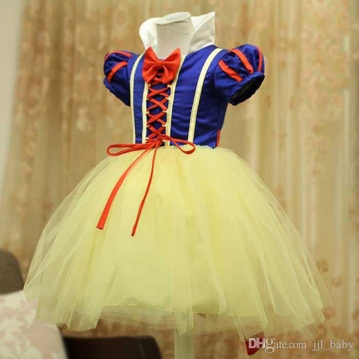 Dresses Little Girls New Design Girl Snow White Princess Costumes Cosplay Cute Kids Performance Clothes Cartoon Christmas Dress Party Clothing Navy Dresses For Girls From Jjl_baby, $15.99| Dhgate.Com