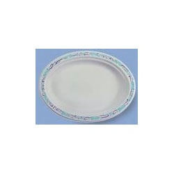 "Chinet POOL Oval Paper Platters, 7 1/2"" x 10"""