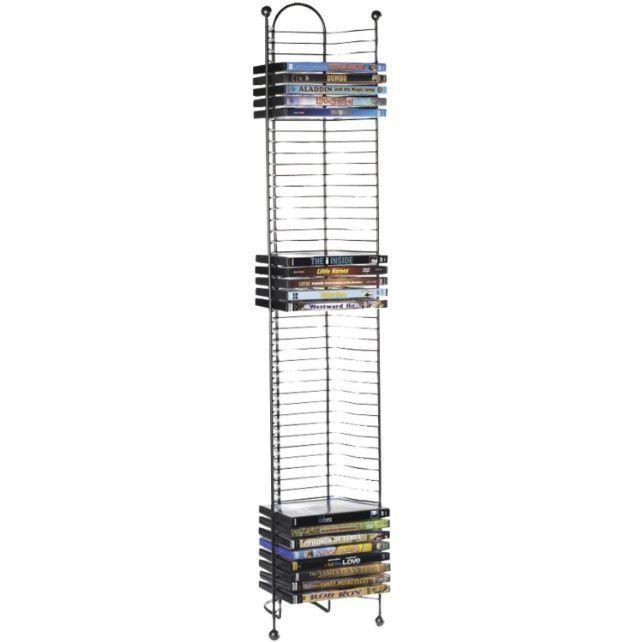 DVD CD Games Media Storage BluRay Rack Organizer Shelf Video Multimedia  Tower #Atlantic #Transitional