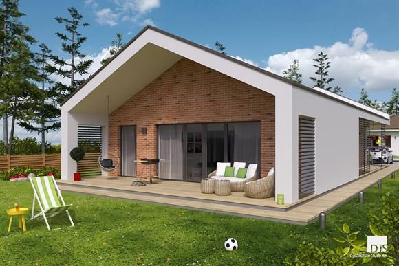 Moderný bungalov so 4 izbami z našej ponuky / Modern bungalow with 3 bedrooms from our collection of house plans