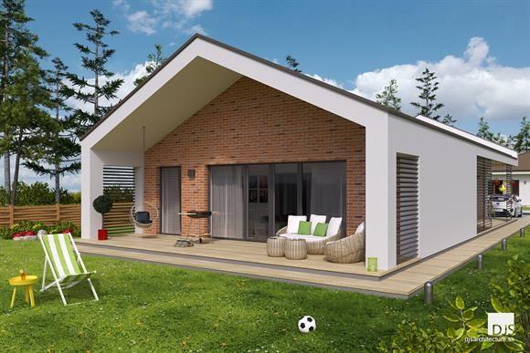 Moderný bungalov so 4 izbami z našej ponuky / Modern bungalow with 3 bedrooms from our collection of house plans