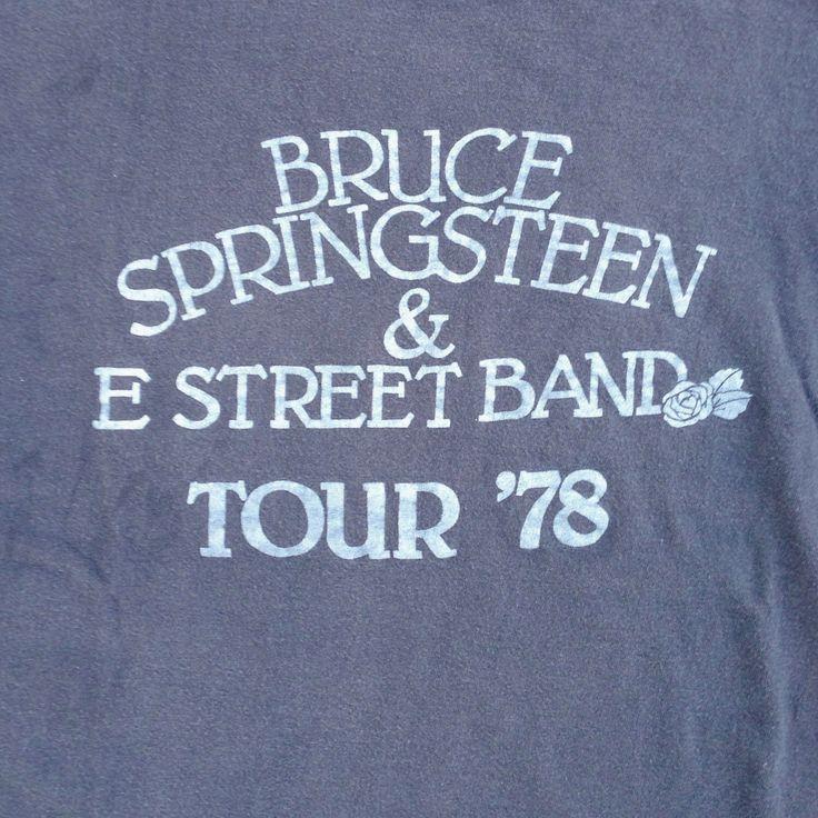 original BRUCE SPRINGSTEEN Tour Shirt - 1978 - Extremely Rare - Size Small/ Medium by CrippleCreekVintage on Etsy https://www.etsy.com/listing/173779238/original-bruce-springsteen-tour-shirt