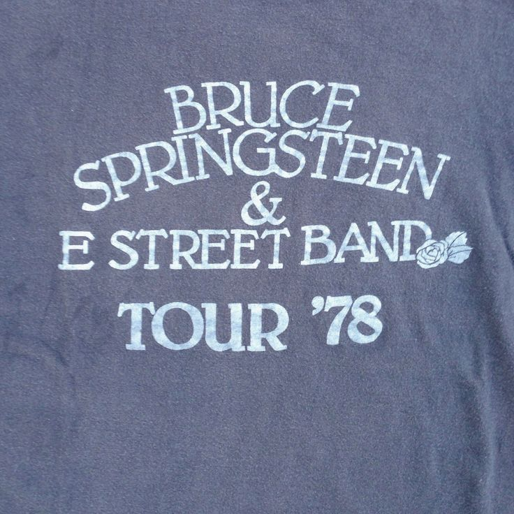 original BRUCE SPRINGSTEEN Tour Shirt - 1978 - Extremely Rare - Size Small/ Medium by CrippleCreekVintage on Etsy https://www.etsy.com/listing/173779238/original-bruce-springsteen-tour-shirt