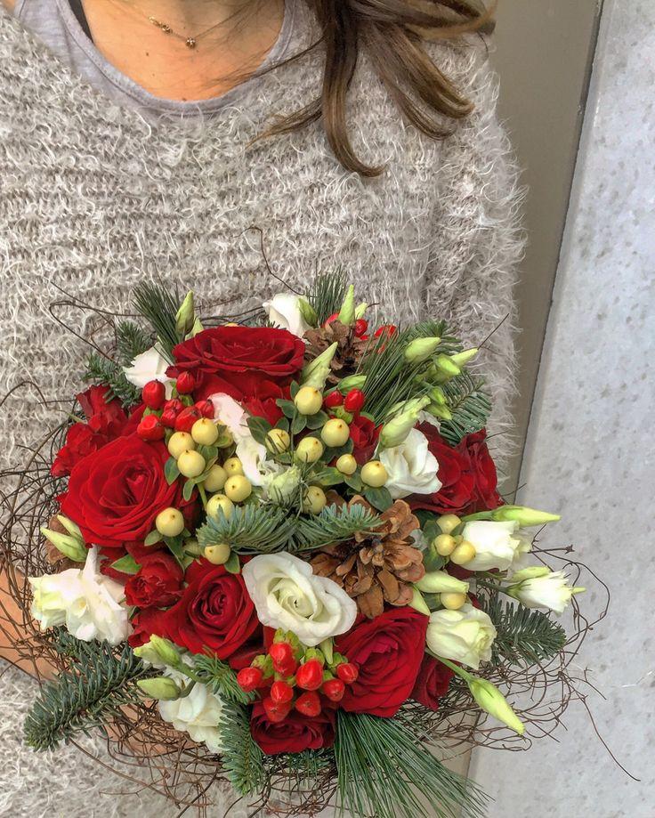 Fleurs Trikala Christmas wedding bouquet Greece