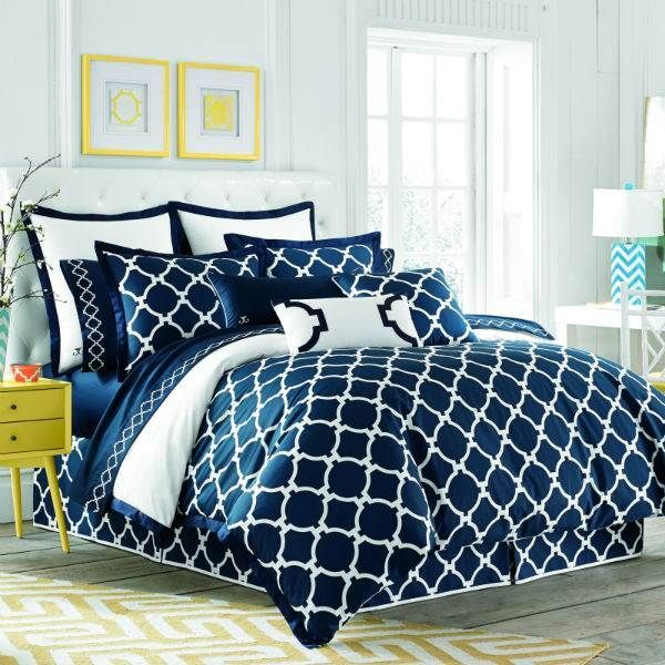 Jill Rosenwald Hampton Links White & Navy Bedding By Jill Rosenwald Bedding, Bed Sets, Comforters, Duvets, Bedspreads, Quilts
