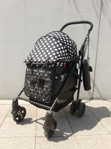 MotherCart(マザーカート)ラプレRUPYコラボカート(ブラック・前面メッシュ新型)【小型犬キャリーバッグ/キャリーカート/ペットカート/ペットバギー/犬用品/送料無料】