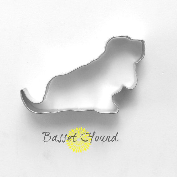 Basset Hound Dog Cookie Cutter / Dog Cookie by TheButtercupHouse