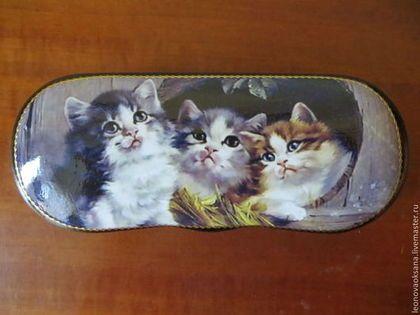 """Футляры, очечники ручной работы. Ярмарка Мастеров - ручная работа очечник """"Три котенка"""". Handmade."""