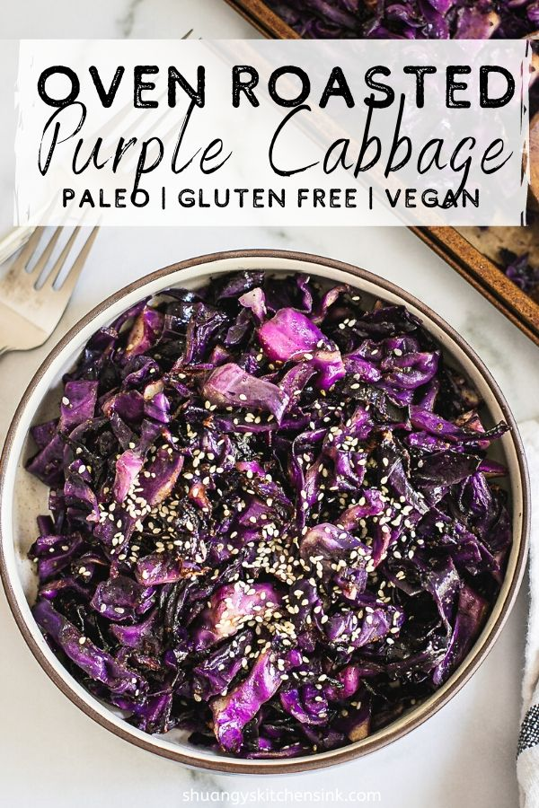 With only 4 simple ingredients you can make a nutritious, paleo and vegan vegetable dish. This roasted purple cabbage re…