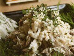 Салат из редьки с куриной печенью
