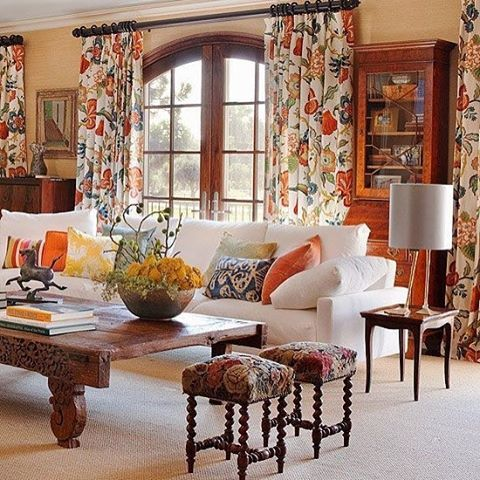 Living Room Mixing Patterns