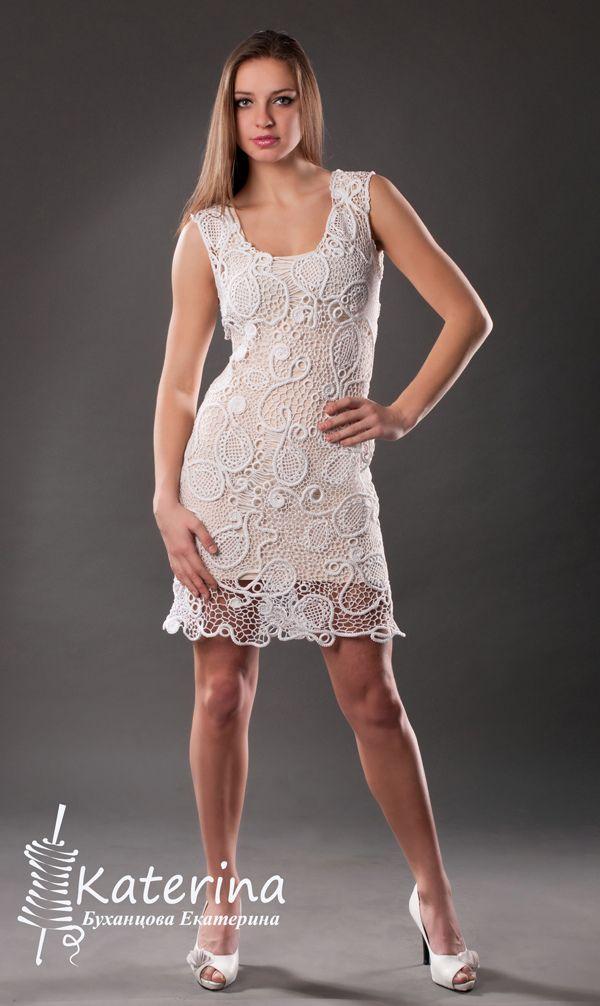 Little white dress. Irish lace | by Katerina Bukhantsova