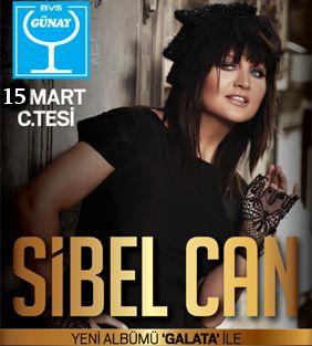 Sibel Can yoğun istek üzerine ''Galata '' albümüyle 15 Mart Cumartesi gecesi Günay Restaurant sahnesinde tekrar sizlerle. Rez: 0212 230 3333 – 0532 443 3333 www.gunayrestaurant.com