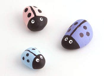 Cute kids craft, but expand to any rock painting.