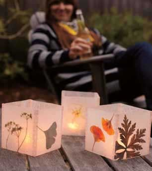 DIY Pressed Flower Luminaria—an easy way to show off pressed flowers and fall leaves