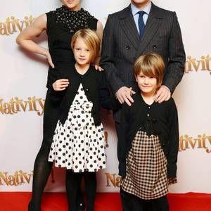 Amanda Abbington, Martin Freeman, and their children ...