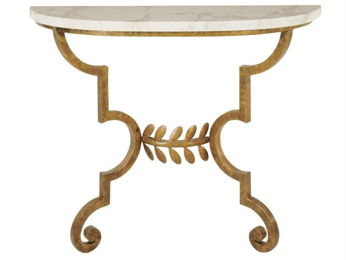 Charming Toga Console Table   Forged Steel With Antique Gold Finish And Honed  Arabescato Top. Wall